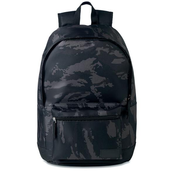 Рюкзак из полиэстера, черный - фото № 1