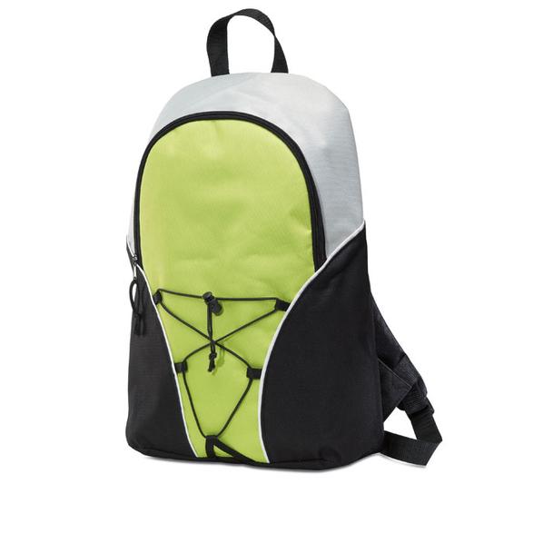 Рюкзак, салатовый/черный/серый - фото № 1