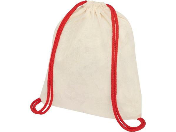 Рюкзак-мешок Oriole, белый / красный - фото № 1