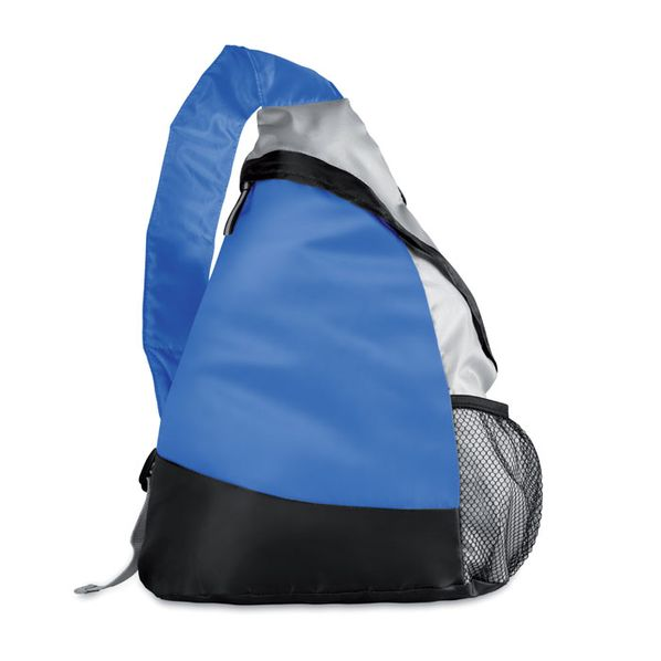 Рюкзак, облегченный, синий/черный/серебристый - фото № 1