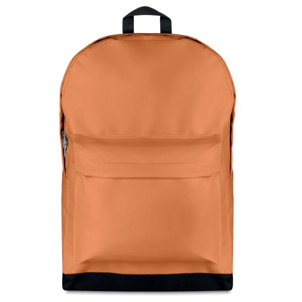 Рюкзак, наружный карман, оранжевый/черный - фото № 1