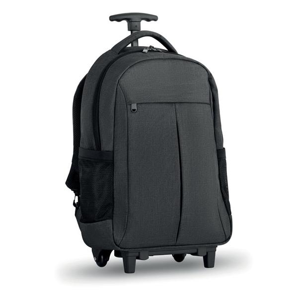 Рюкзак на колесах, серый - фото № 1