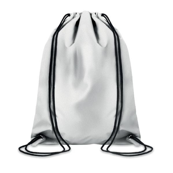 Рюкзак на шнурках светоотраж, серый - фото № 1