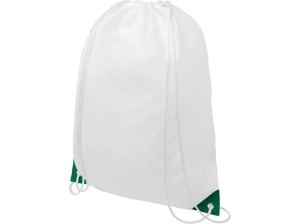 Рюкзак Oriole, белый / зеленый - фото № 1