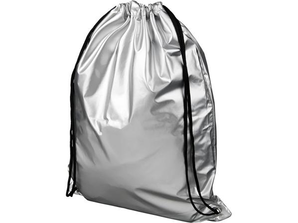 Рюкзак Oriole блестящий, серебряный - фото № 1