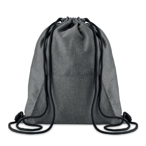 Рюкзак с карманом, черный - фото № 1