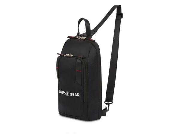 Рюкзак с одним плечевым ремнем Swissgear, черный - фото № 1