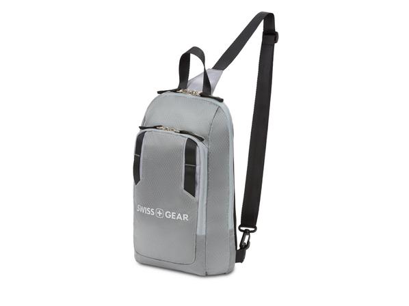 Рюкзак с одним плечевым ремнем Swissgear, серый - фото № 1