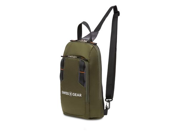 Рюкзак с одним плечевым ремнем Swissgear, зеленый - фото № 1