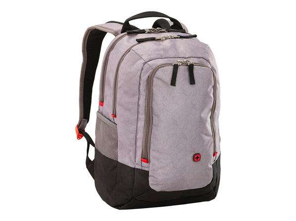 Рюкзак с отделением для ноутбука 14'' WENGER, эргономичные плечевые ремни , серый/черный - фото № 1