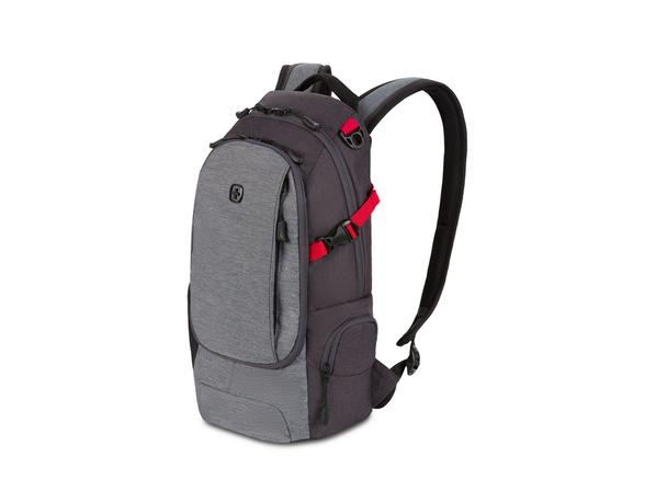 Рюкзак Swissgear, серый меланж / красный - фото № 1