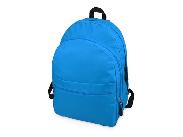 Рюкзак Trend с двумя отделениями на молнии и внешним карманом, аква - фото № 1