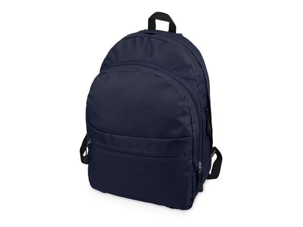 Рюкзак Trend с двумя отделениями на молнии и внешним карманом, темно-синий - фото № 1