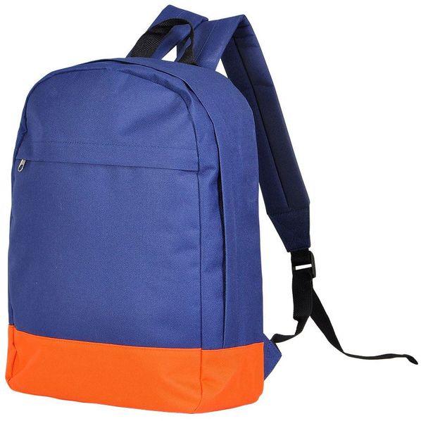 Рюкзак URBAN, темно-синий/оранжевый, 39х29х12 cм, полиэстер 600D, шелкография - фото № 1