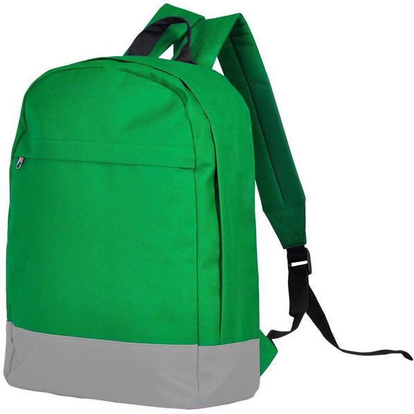 Рюкзак URBAN, зеленый/серый, 39х29х12 cм, полиэстер 600D, шелкография - фото № 1