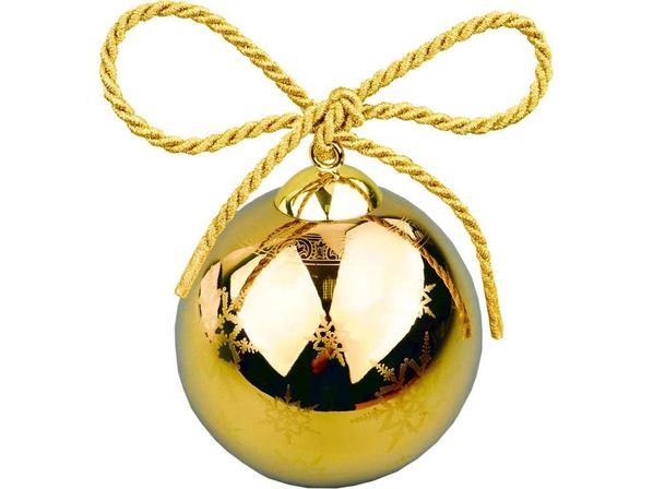 Шар елочный Gold рождественский, золотой - фото № 1