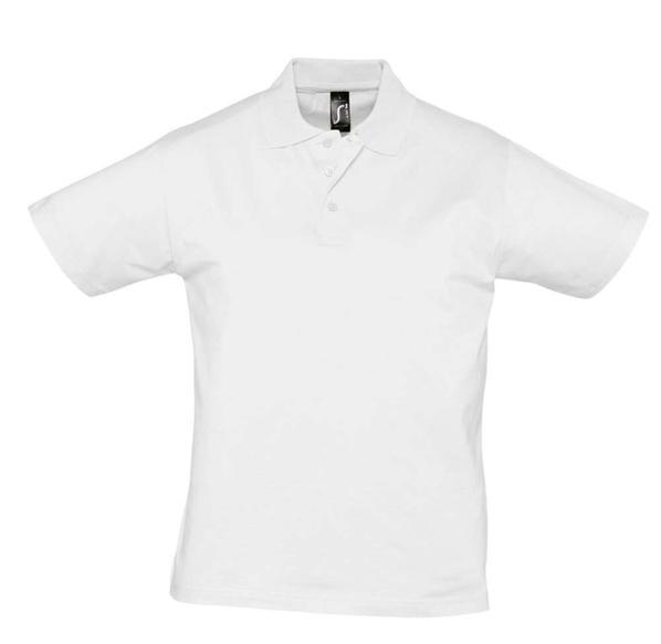 Рубашка поло мужская Sol's Prescott Men 170, белая - фото № 1