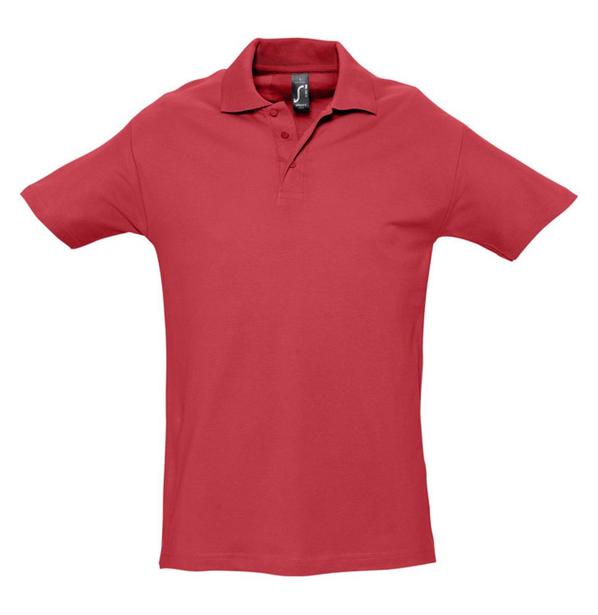 Рубашка поло мужская Sol's Spring 210, красная - фото № 1