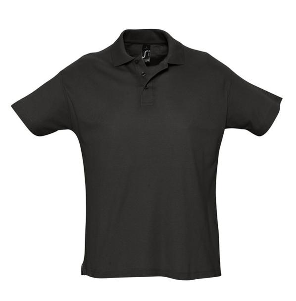 Рубашка поло мужская Sol's Summer 170, черная - фото № 1