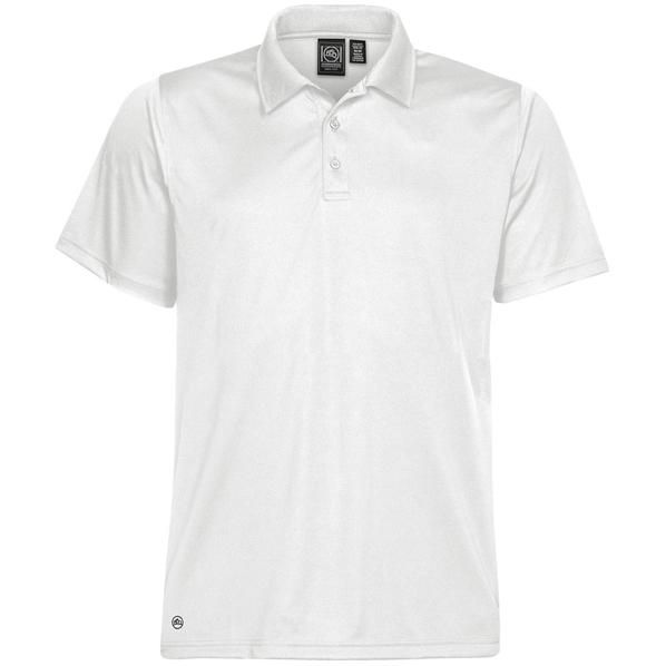 Рубашка поло с 3 пуговицами мужская Stormtech Eclipse H2X-Dry, белая - фото № 1