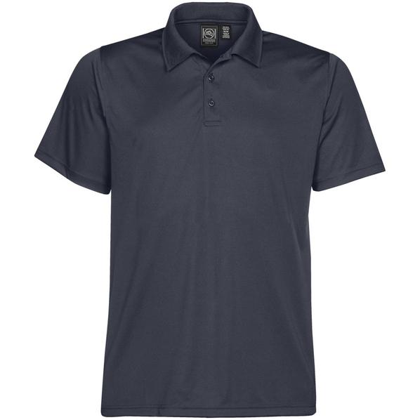 Рубашка поло с 3 пуговицами мужская Stormtech Eclipse H2X-Dry, тёмно-синяя