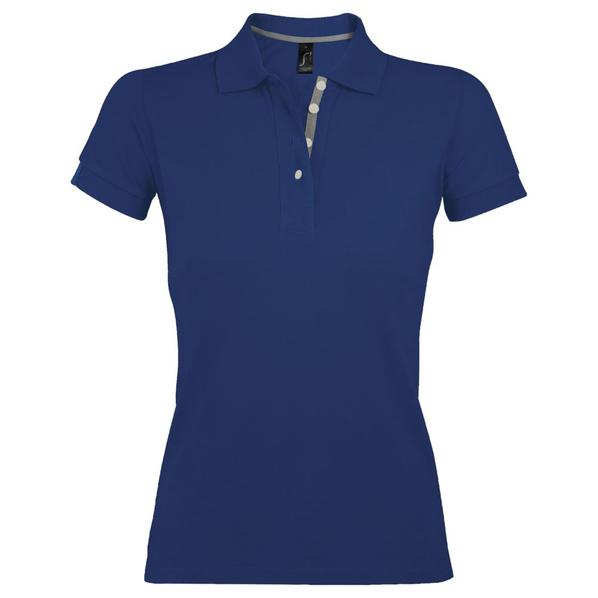 Рубашка поло женская Sol's Portland Women 200, синяя - фото № 1