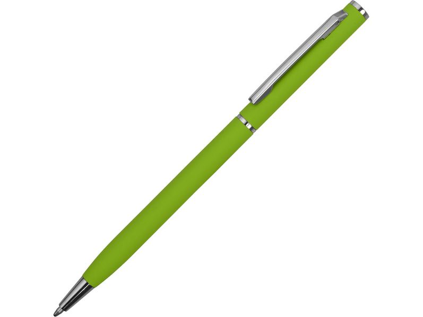 Ручка металлическая шариковая Атриум, салатовая - фото № 1