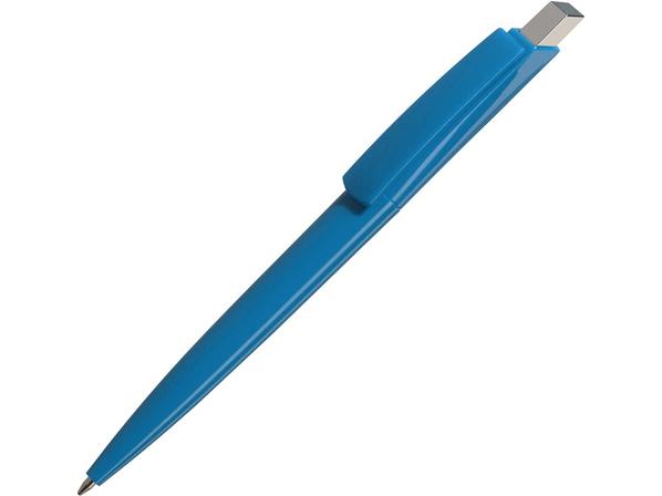Ручка пластиковая шариковая Gito Solid, голубая - фото № 1