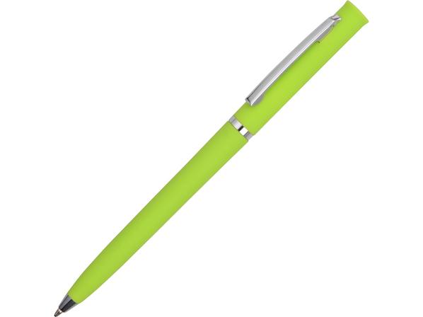 Ручка пластиковая шариковая Navi soft-touch, салатовая - фото № 1