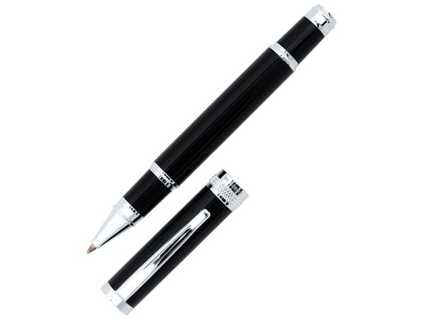 Ручка роллер Cerruti 1881 Focus, черная / серая - фото № 1