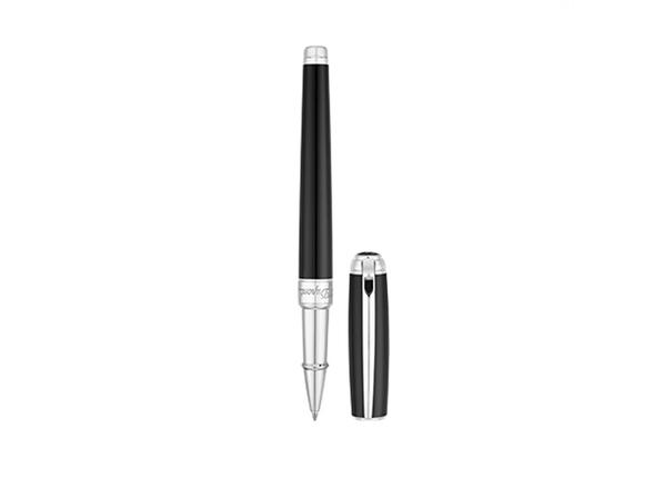 Ручка роллер S.T. Dupont Line D Medium, черная / серая - фото № 1