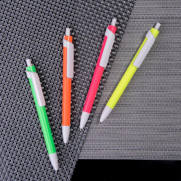 Ручка шариковая пластиковая Lecce Pen Forte Neon, неоновый желтый / белая - фото № 1