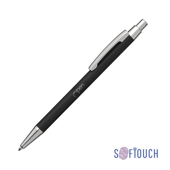 Ручка шариковая металлическая CPen Ray, soft touch, черная - фото № 1