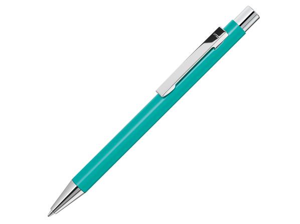 Ручка шариковая металлическая Uma Straight SI, бирюзовая - фото № 1