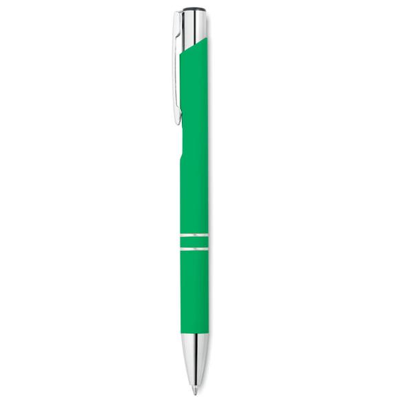 Ручка шариковая металлическая, светло-зеленая / хром - фото № 1