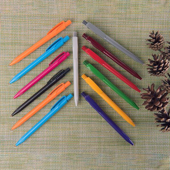Ручка шариковая пластиковая Lecce Pen Twin Solid, голубая - фото № 1