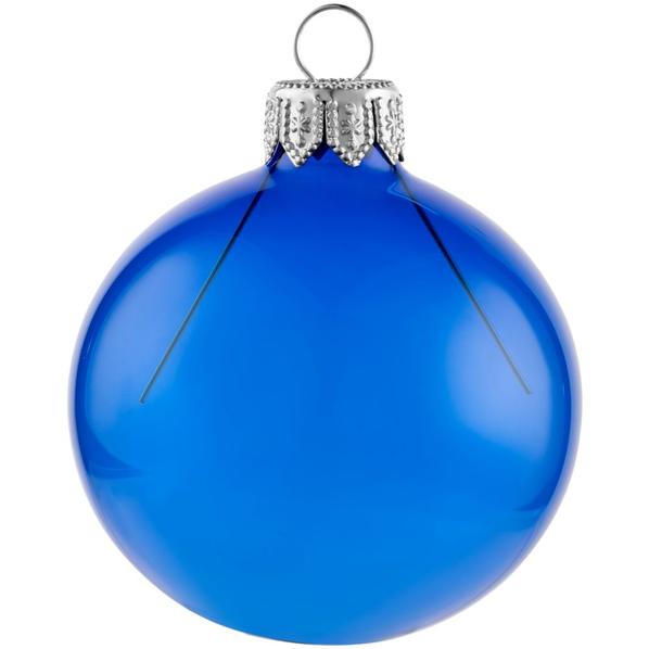 Шар елочный в коробке Gala Night, 6 см, синий - фото № 1