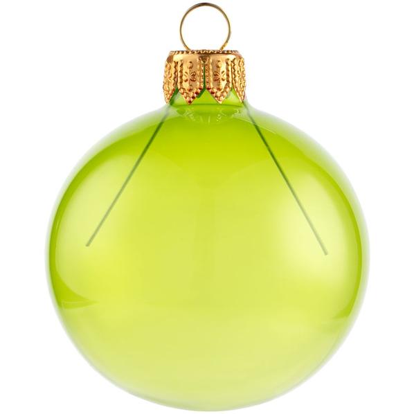 Шар елочный в коробке Gala Night, 6 см, зеленый - фото № 1