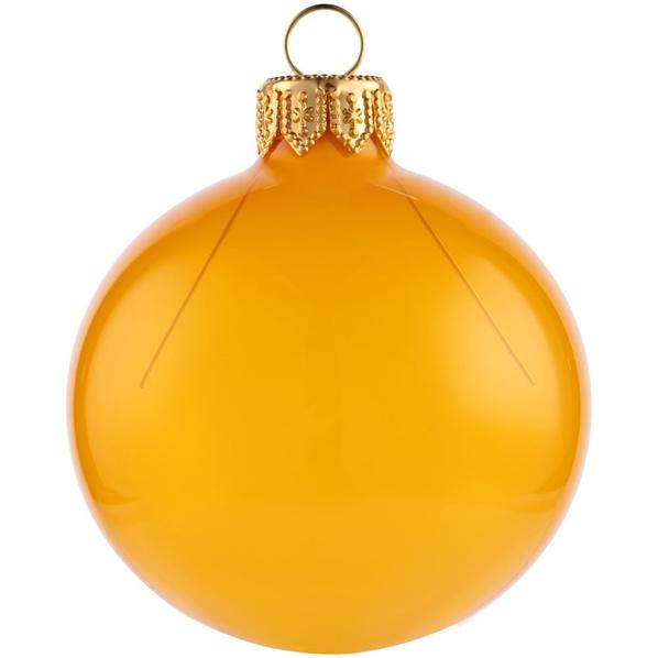 Шар елочный в коробке Gala Night, 6 см, золотистый - фото № 1