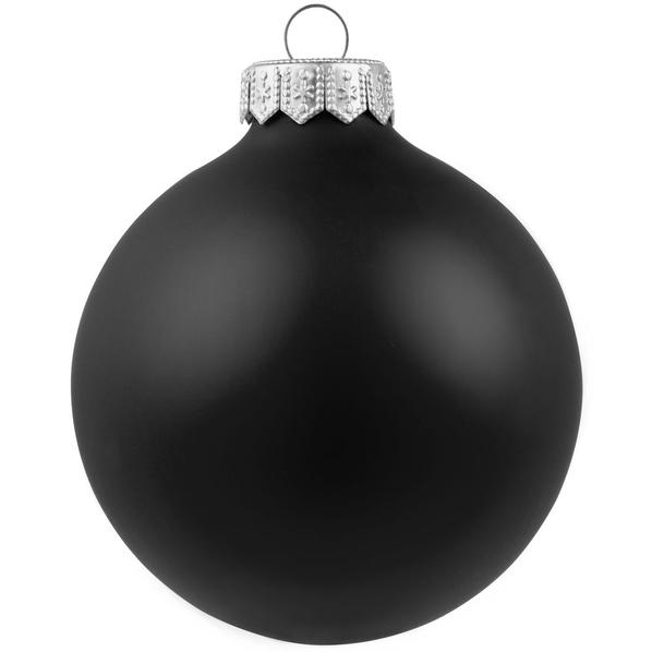Шар елочный в коробке Gala Night Matt, 8 см, черный - фото № 1