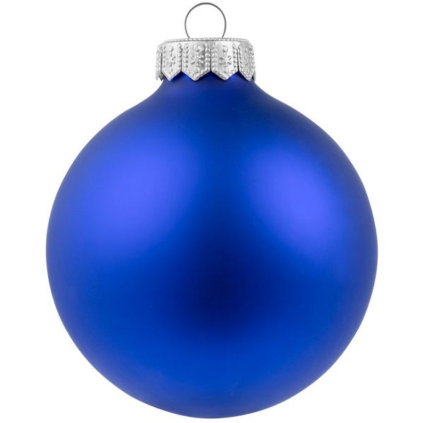 Шар елочный в коробке Gala Night Matt, 8 см, синий - фото № 1
