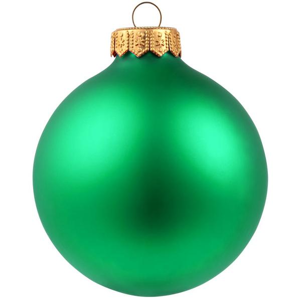 Шар елочный в коробке Gala Night Matt, 8 см, зеленый - фото № 1