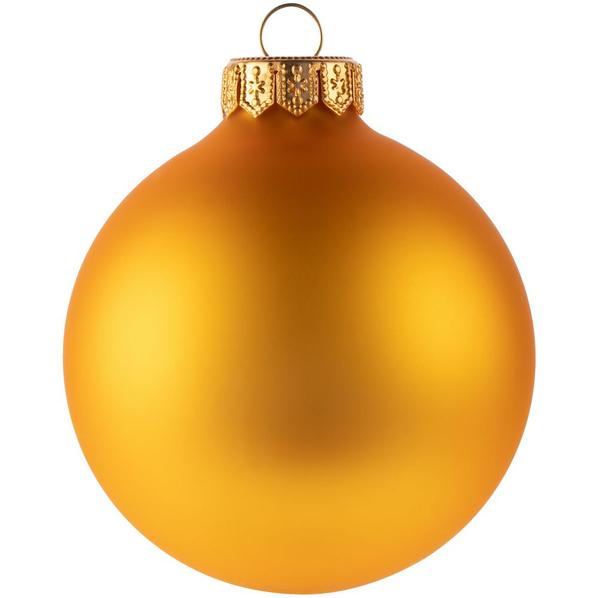 Шар елочный в коробке Gala Night Matt, 8 см, золотистый - фото № 1