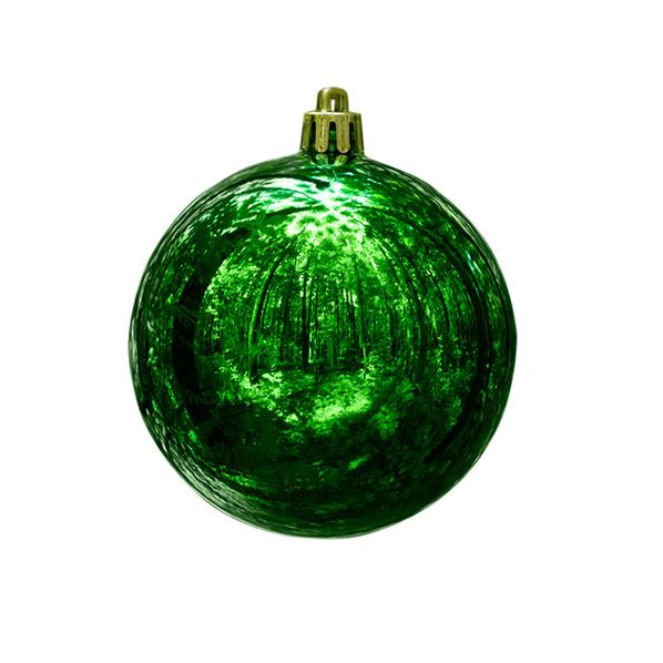 Шар новогодний Gloss, зеленый - фото № 1