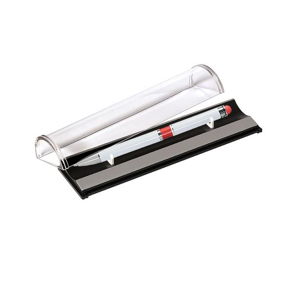 Ручка шариковая металлическая в футляре Portobello Arctiс, белая/ красная - фото № 1