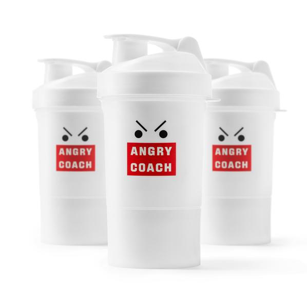 Шейкер для спортивного питания Angry Coach, белый - фото № 1
