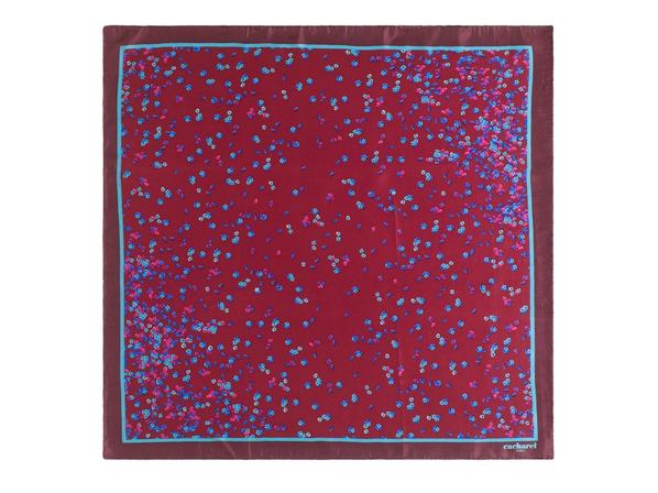 Платок шелковый Cacharel Tourbillon, бордовый - фото № 1