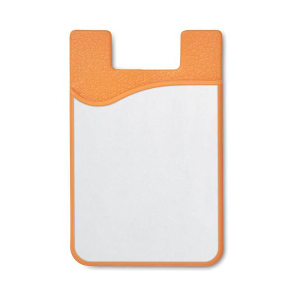 Чехол для пластиковых карт, сублимация, оранжевый - фото № 1