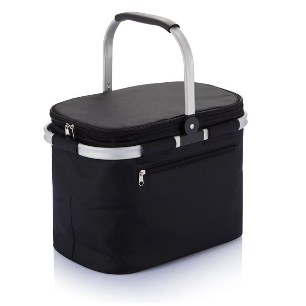 Складная сумка-холодильник с алюминиевой рамой, черный - фото № 1