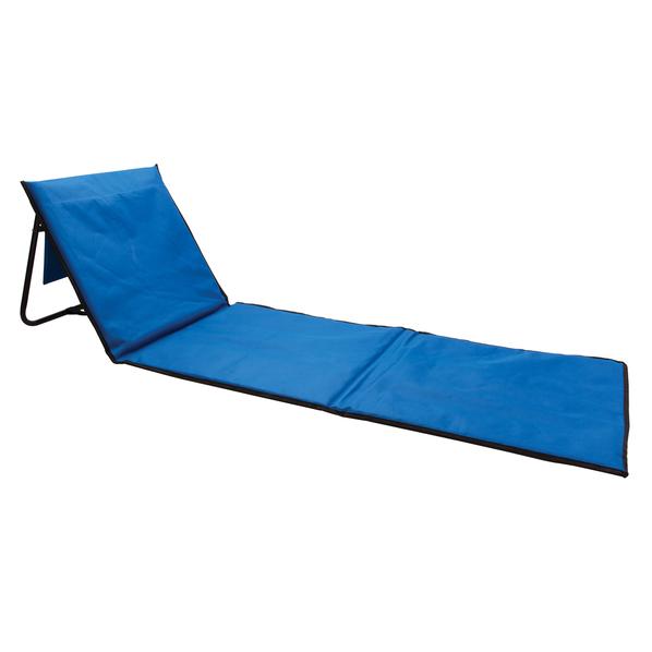 Складной лежак для пляжа, голубой - фото № 1